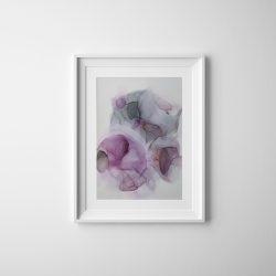 Purple clouds - art by Rikke Kjelgaard